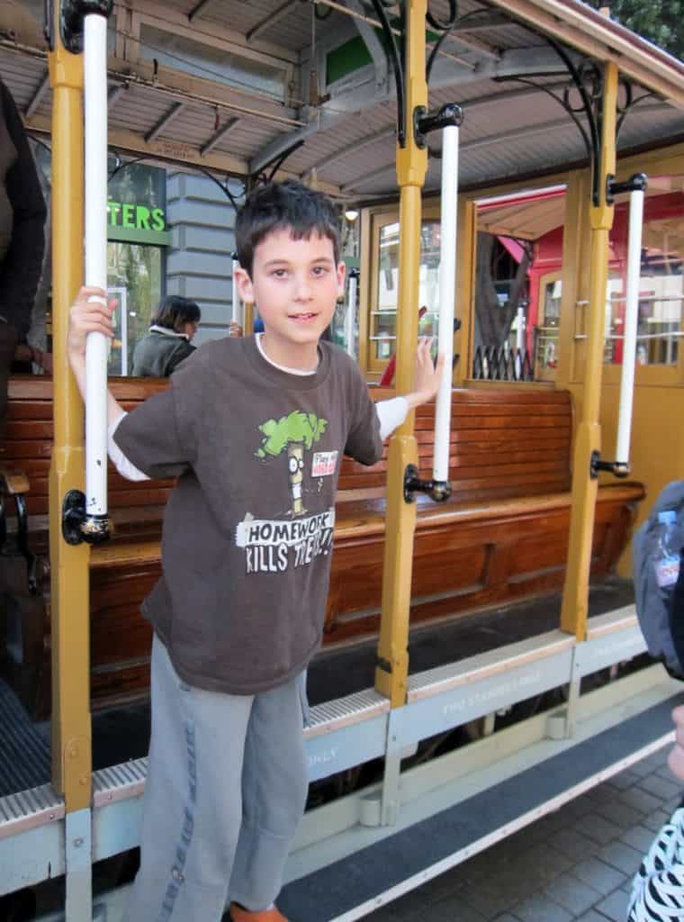 Our Ron traveling on the cable cars. Definitely one of his  Fun San Francisco Attractions.