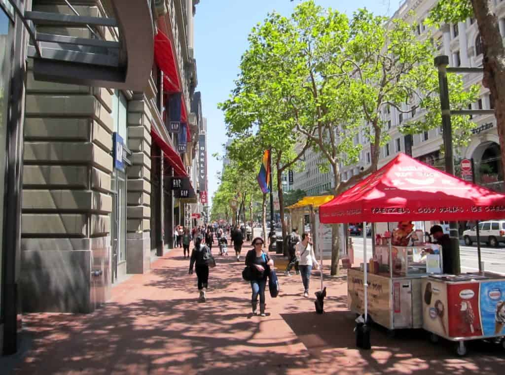 Our top Fun San Francisco Attractions: strolling down Market street was fun and free!