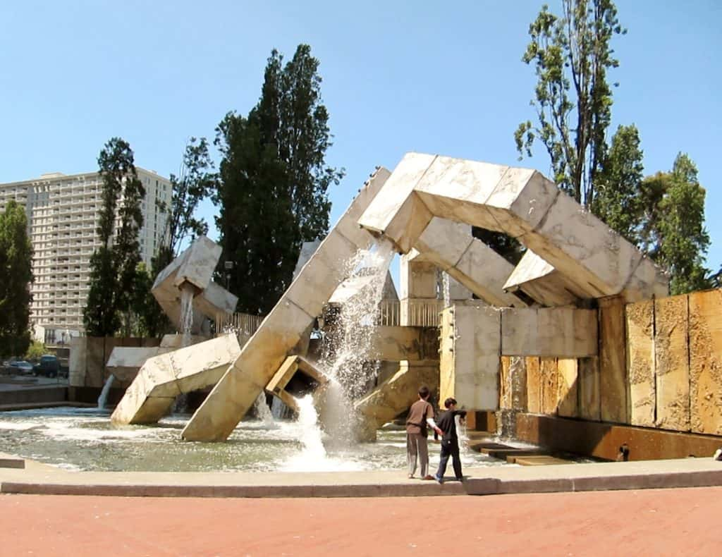 The Valliantcourt fountain was a hit with our kids! One of their top Fun San Francisco Attractions.