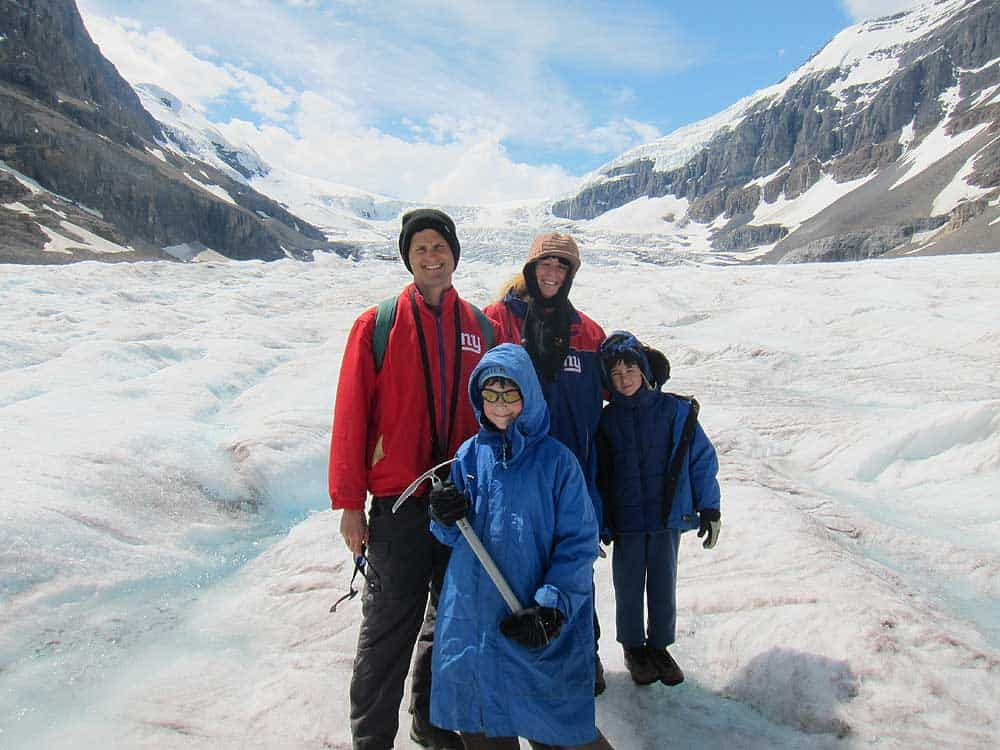 Hiking Athabasca Glacier, Canada, July 2011