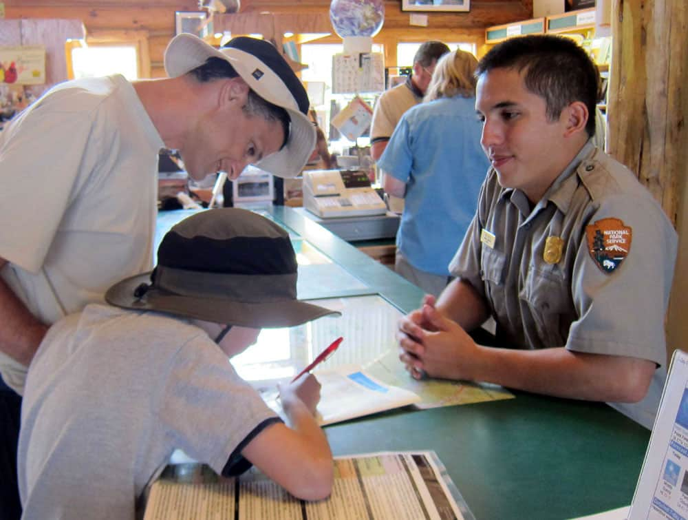 Park ranger providing advice at The Black Canyon of the Gunnison NP, Colorado