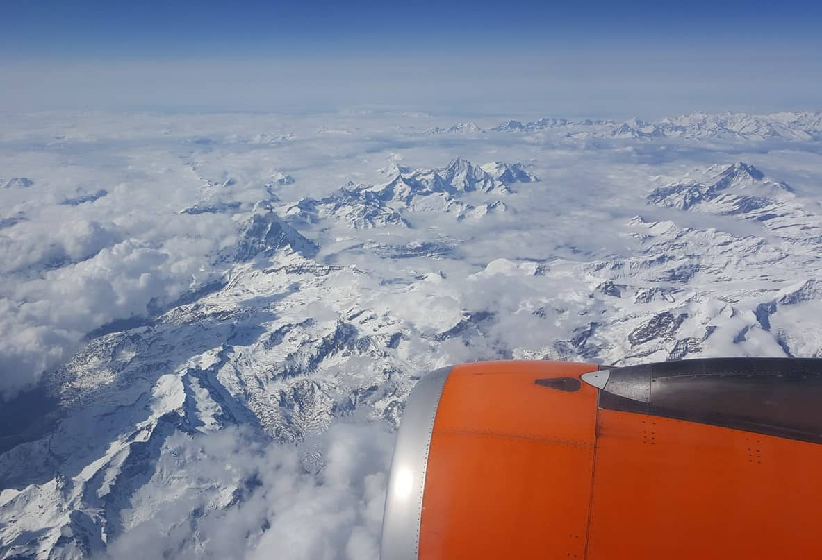 French Alps Trip Report: Views of the Alps from the plane