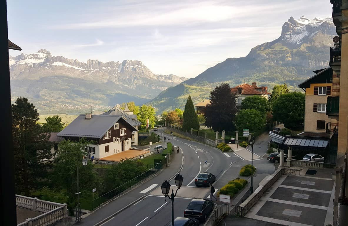 French Alps Trip Report: The view from our apartment