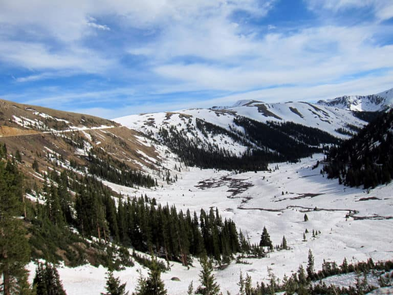 Driving The Independence Pass In Colorado
