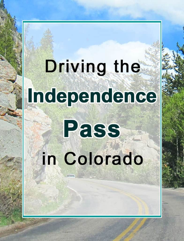 Driving the Independence Pass, Colorado