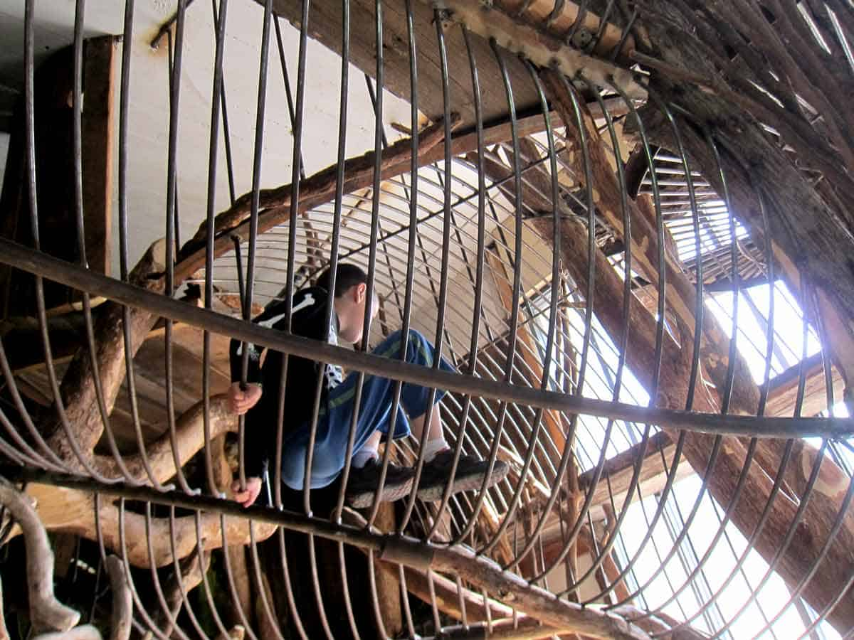 Kids can crawl anywhere they want at The City Museum, St. Louis