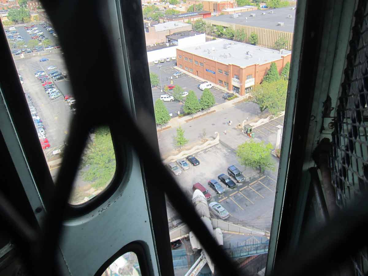 Inside the school bus on top of the City Museum, St. Louis, MO
