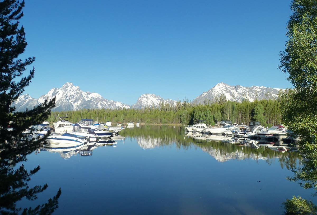 Boats at Grand Tetons National Park