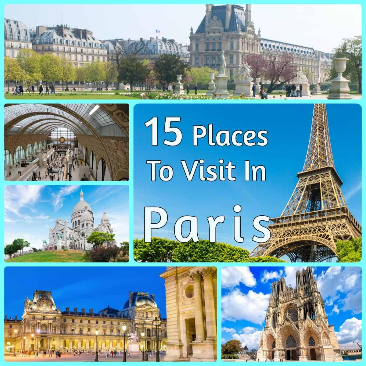 15 places to visit in paris