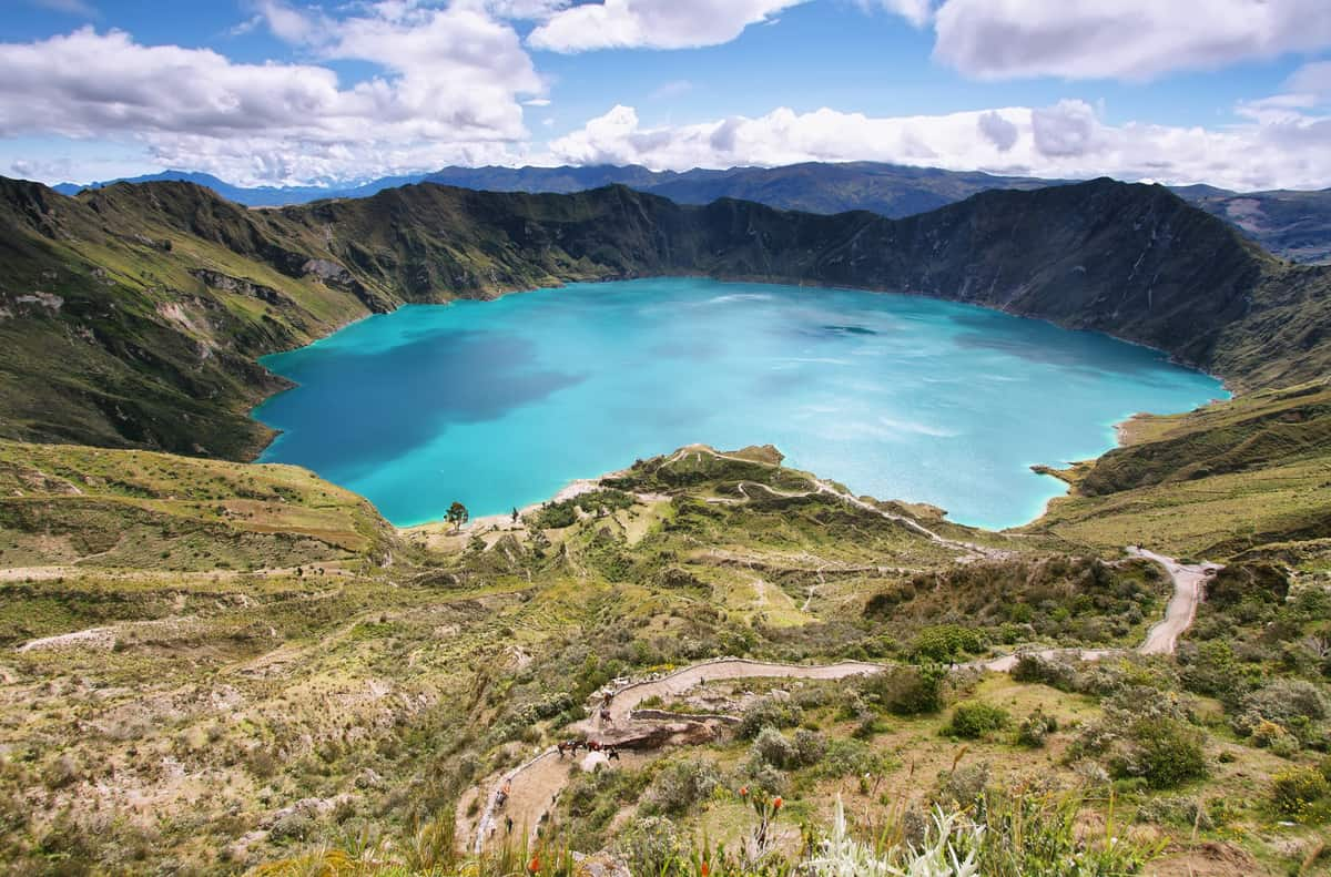 Lake of the Quilotoa caldera, Ecuador - Where to travel to in South America