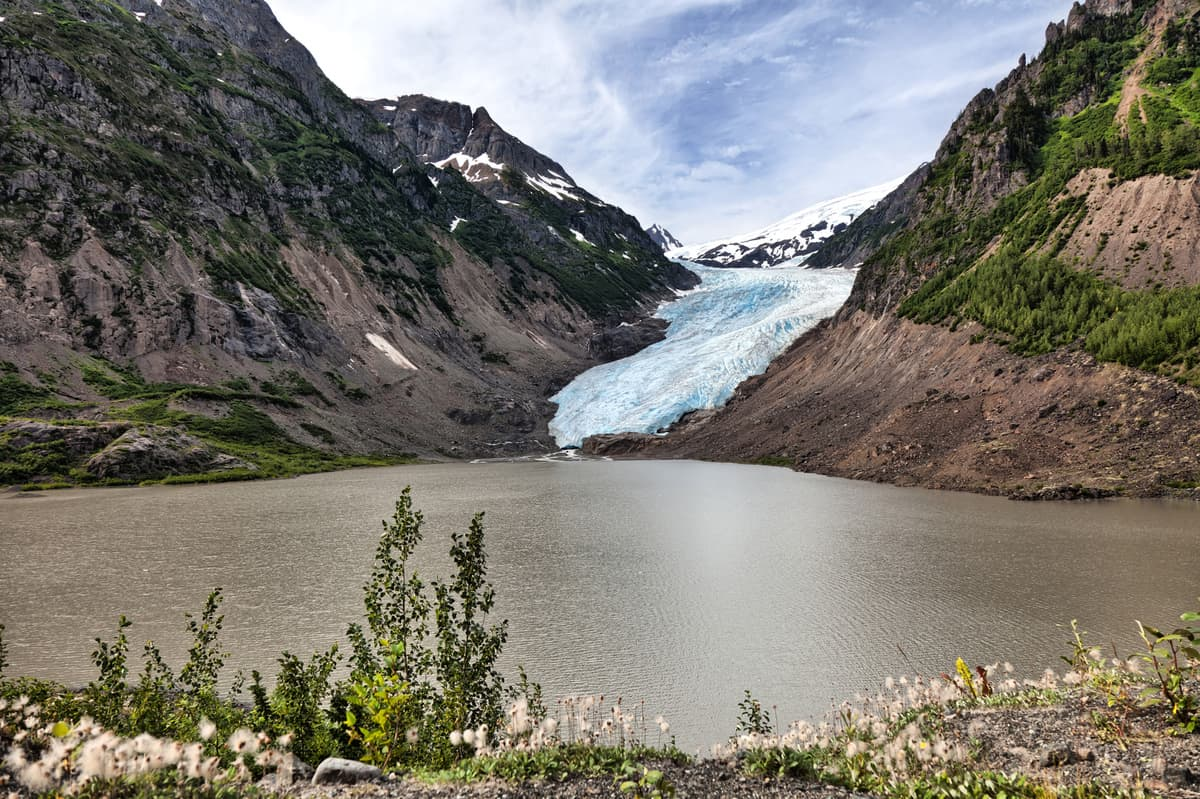 What to see and do along the Stewart-Cassiar route to Alaska: Bear Glacier at BC Canada