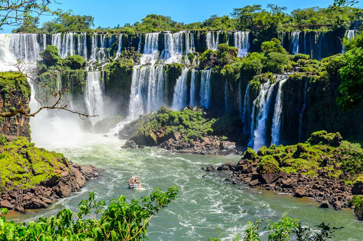 Iguazu falls view from Argentina - Best Travel Destinations in South America