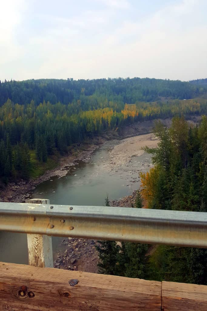 The view from Kiskatinaw Bridge - part of the old Alaska Highway