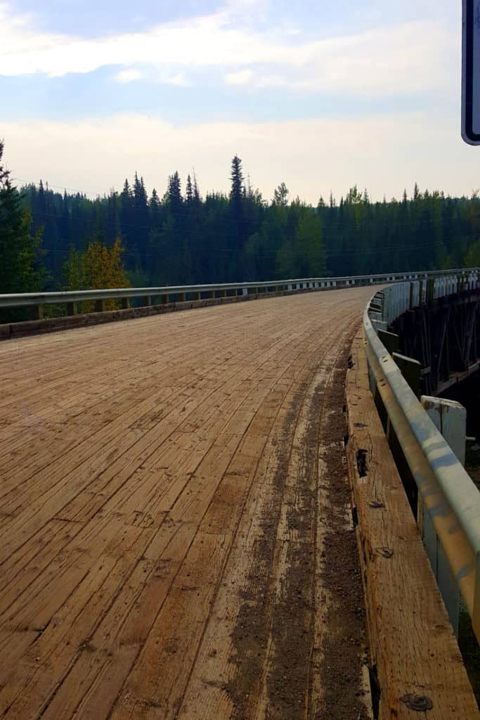 Kiskatinaw Bridge - part of the old Alaska Highway