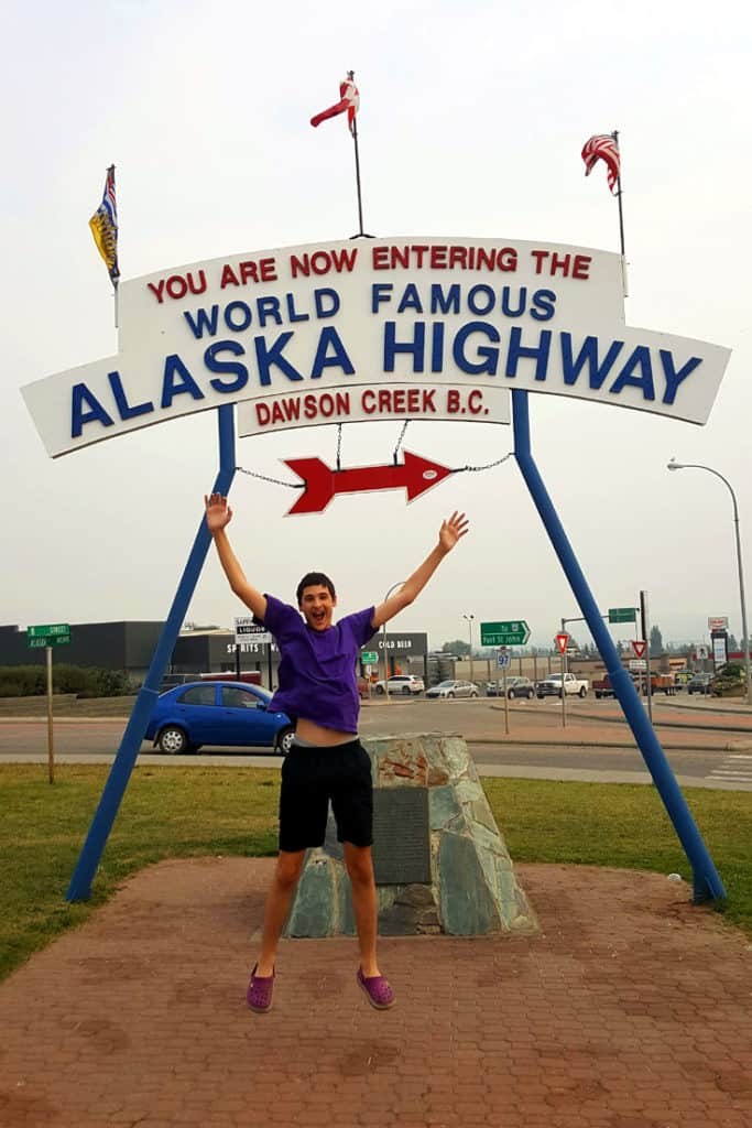 Driving along the Alaska Highway - Dawson Creek