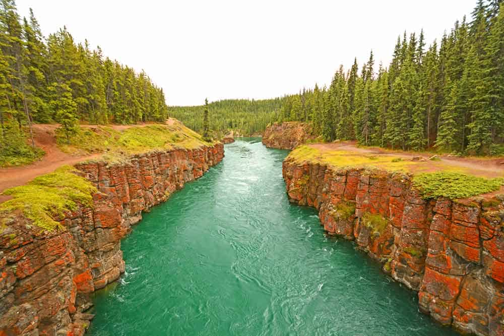 What to do and see along the Alaska Highway: Miles Canyon