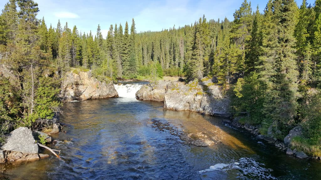Rancheria Falls - a stop along the Alaska Highway