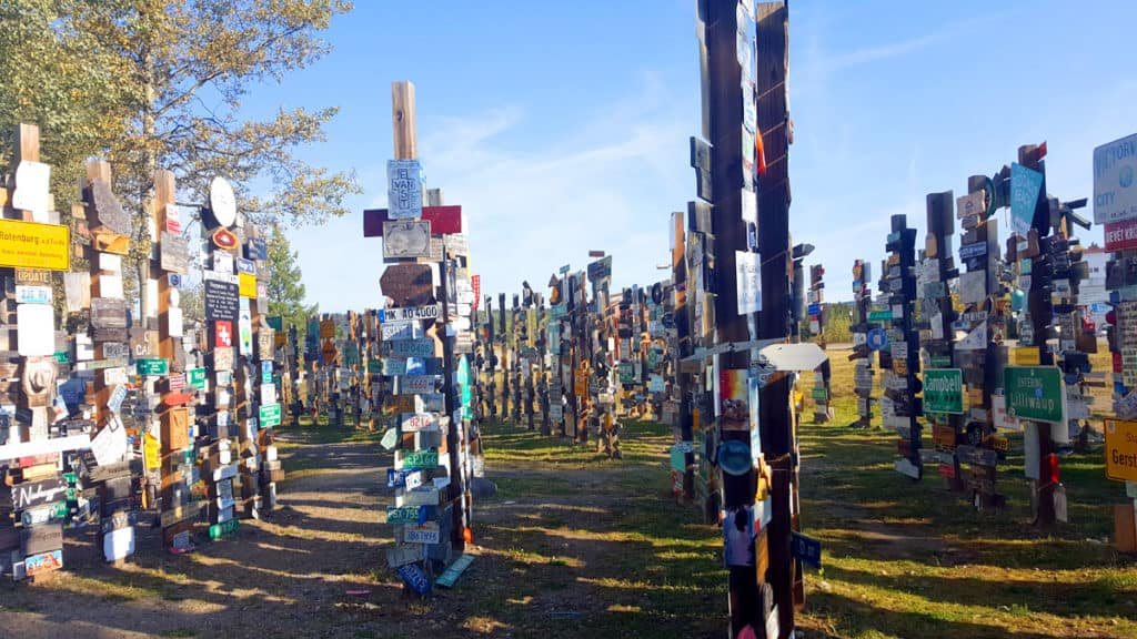 The Signpost Forest in Watson Lake