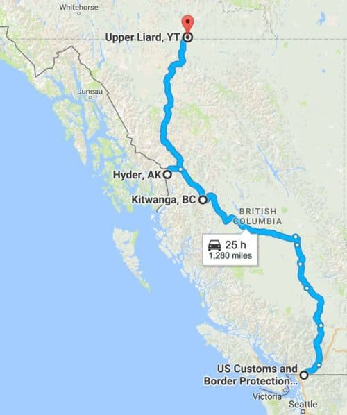 What to see and do along the Stewart-Cassiar route to Alaska: Stewart-Cassiar map