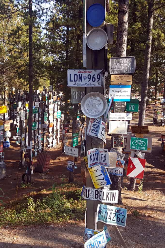 Watson Lake Signpost Forest - a stop along the Alaska Highway