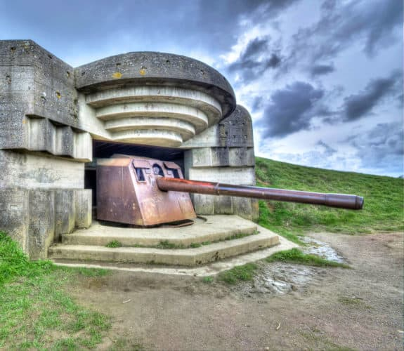 Longues sur Mer Artillery Battery at Normandy, France