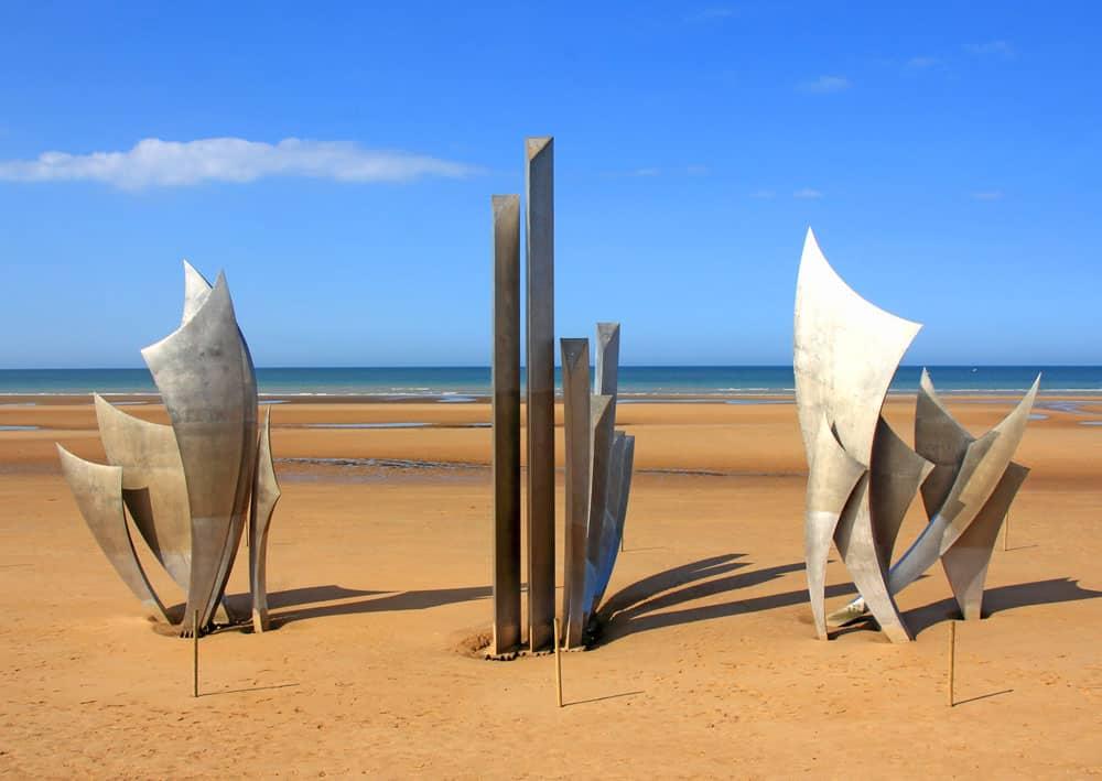 Omaha beach memorial, Normandy