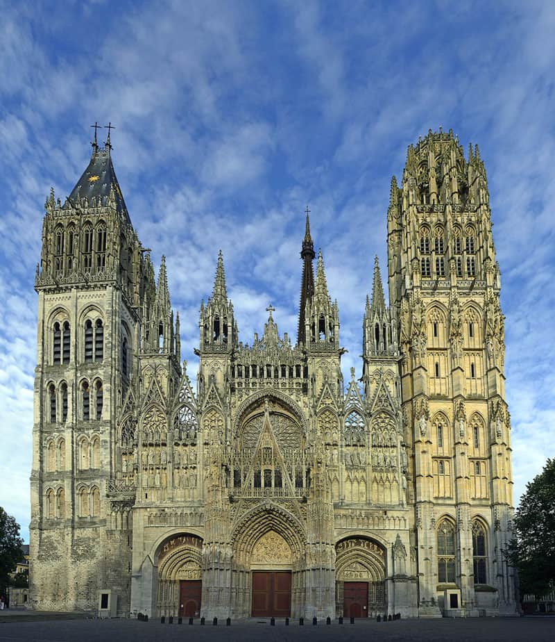 The Rouen Cathedral - a must see when in Normandy