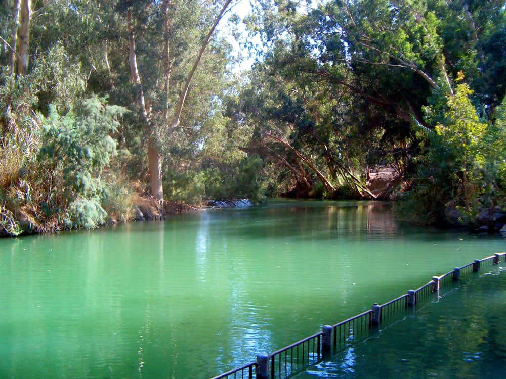 The Jordan River offers many spots for a quick dip in its cool refreshing water