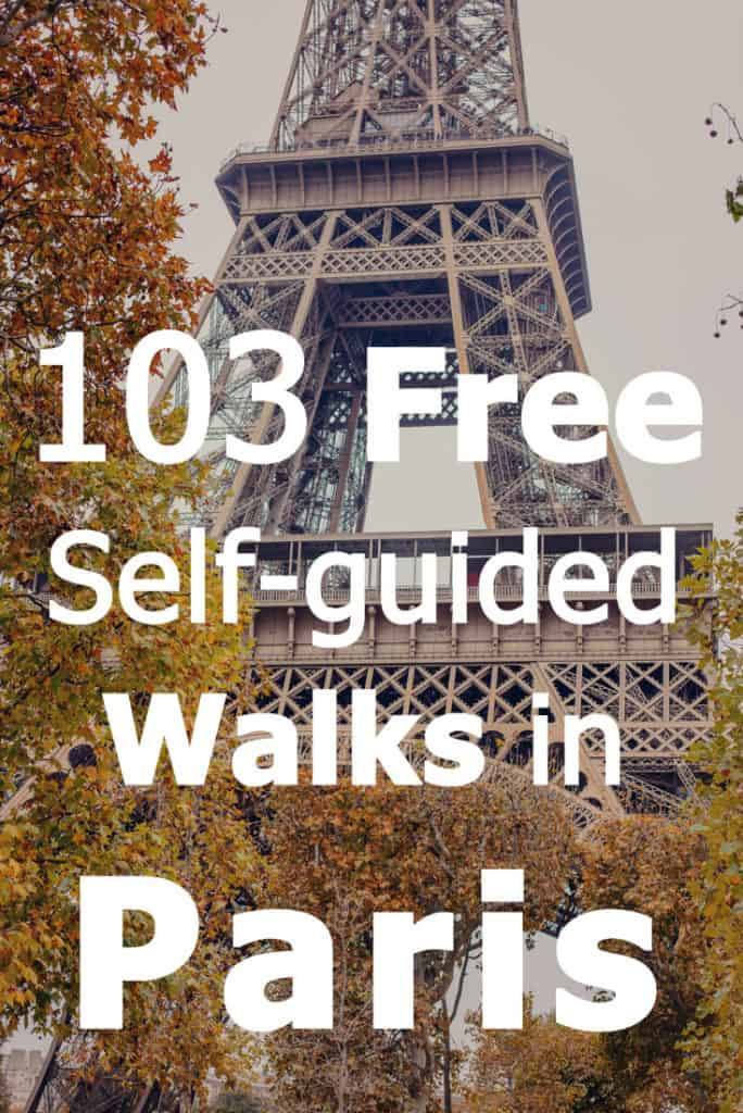 Self-guided walks in Paris. Here are 103 great FREE self-guided walks that we (and you!) can use when in Paris. We're going there in March and definitely plan on wearing out our shoes walking in the French capital. I hope others will find these suggestions for self-guided walks in Paris useful!