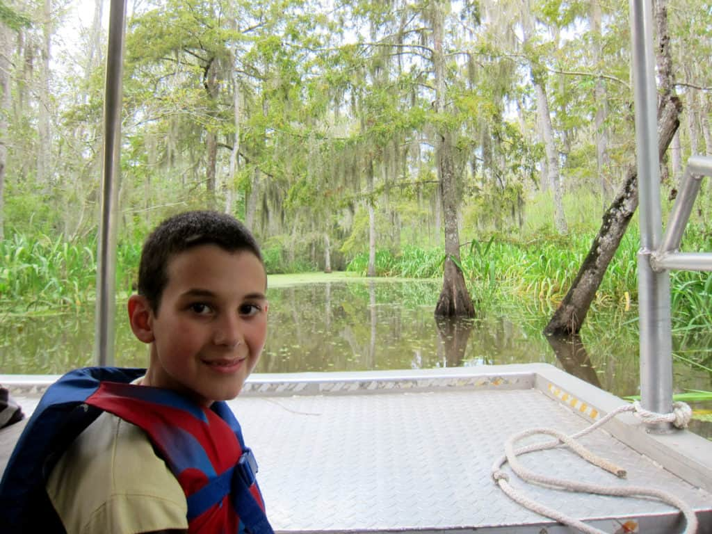 6 tips for Visiting the swamps of Louisiana with kids: Take a swamp tour