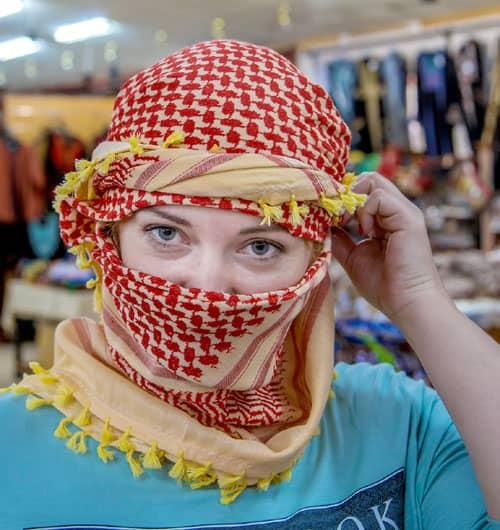 What to wear in Israel? Avoid wearing a keffiyeh to cover your head or face in Jewish areas