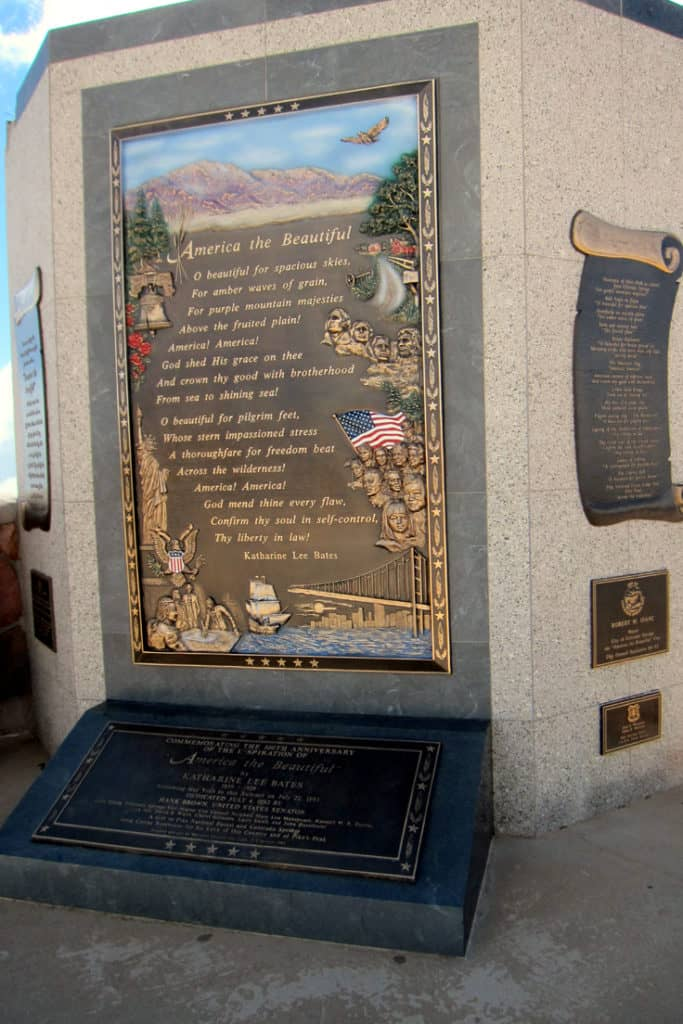 """America The Beautiful"" memorial at the top of Pikes Peak. Visiting Pikes Peak: 7 things you need to know. We visited America's mountain and I have insights to share that will help make your trip to Pikes Peak in Colorado a safe and memorable experience."