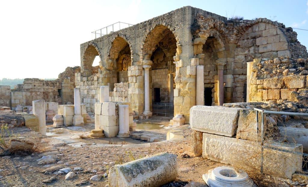 Beit Guvrin, Israel: The Roman bathhouse
