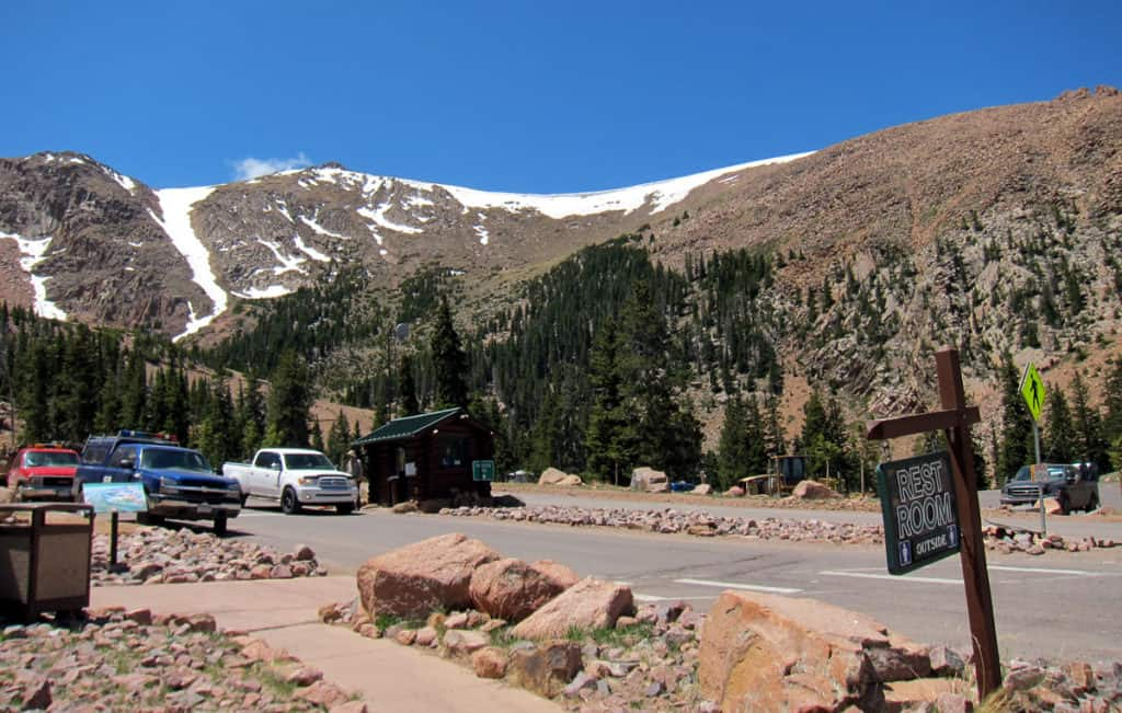 The ranger's station at Pikes Peak