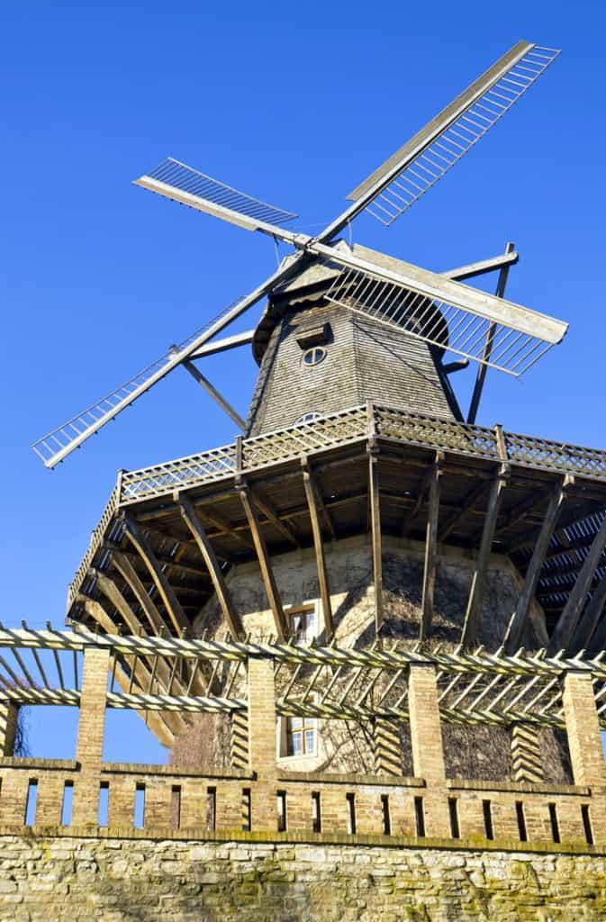 The historic windmill at Sanssouci park