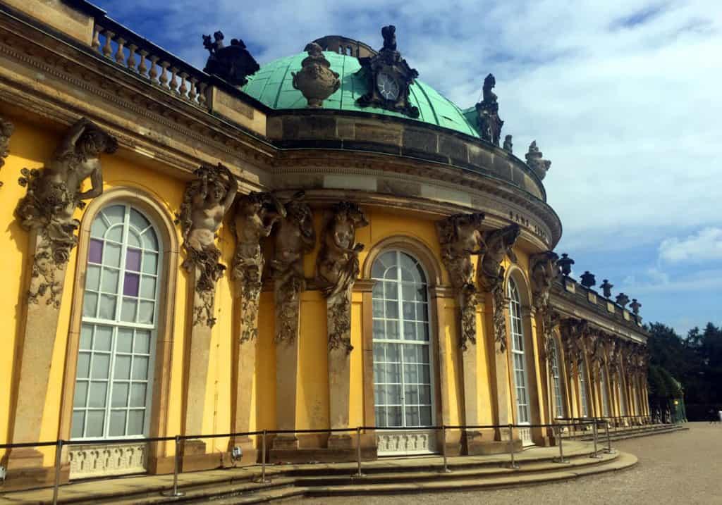 Sanssouci palace - closer to the building itself