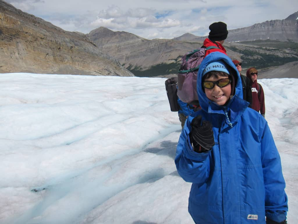 Hiking the Athabasca Glacier in Canada was not easy but so much fun!
