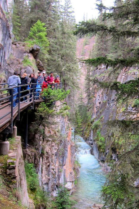 Hiking Johnston Canyon