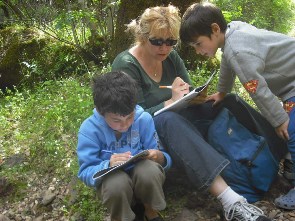 Traveling with kids: Working on our Jr. Ranger booklets