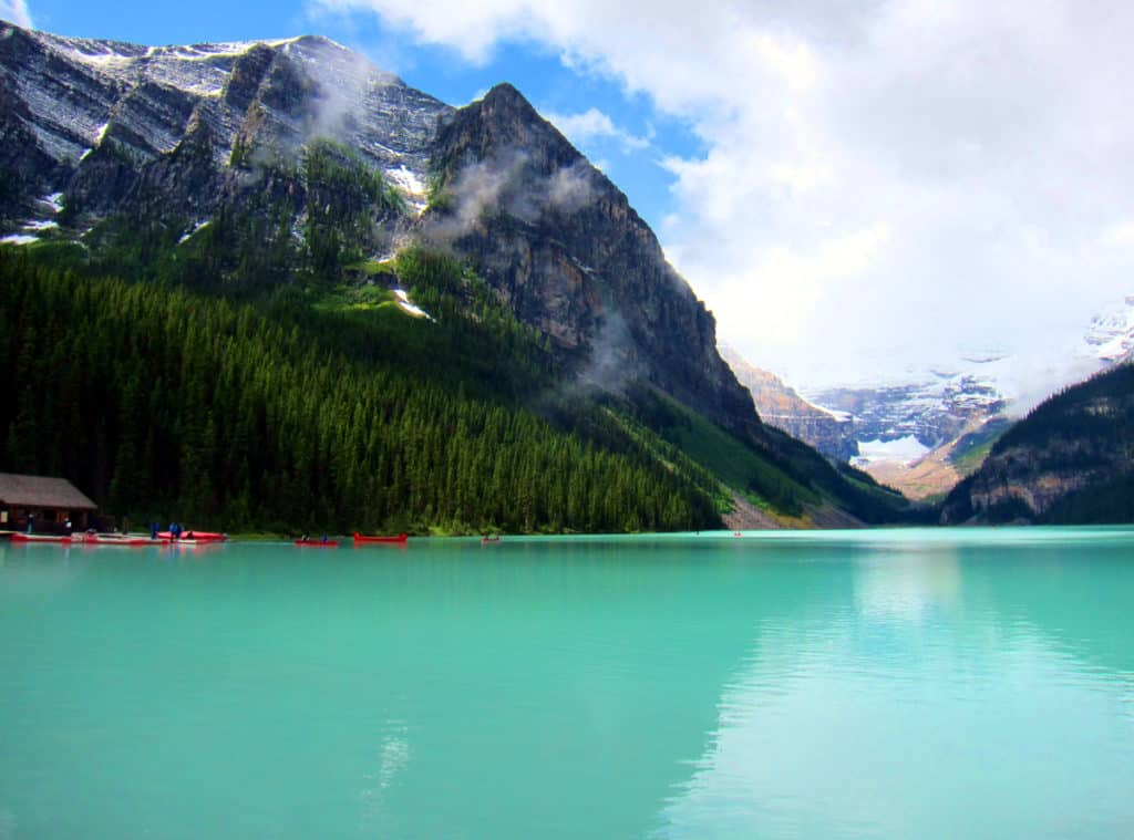 Lake Louise - one of the top four natural wonders or Banff National Park