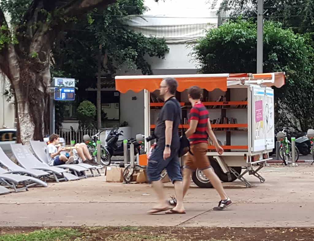 Street library on Rothschild Blvd, Tel Aviv - The White City of Tel Aviv: A Visitor's Guide