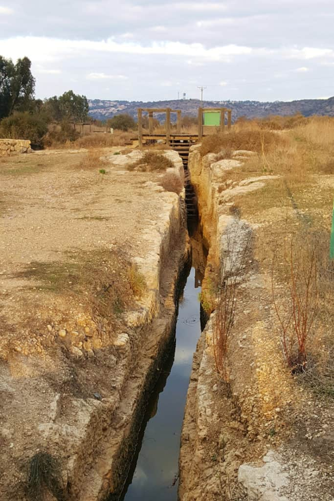 Visiting Nahal Taninim in Israel to hike inside the canals of an authentic Roman water system.
