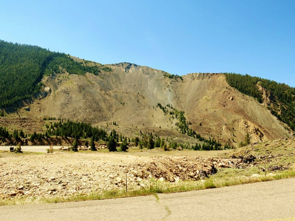 Quake Lake, MT- The site of the landslide