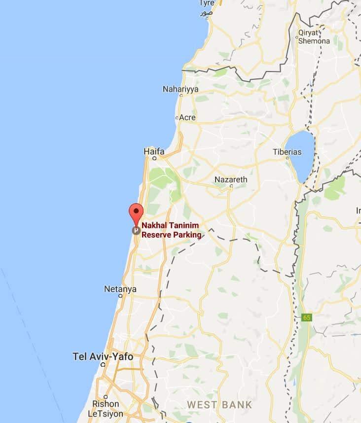 Visiting Israel: The Nahal Taninim visitors guide. Map.