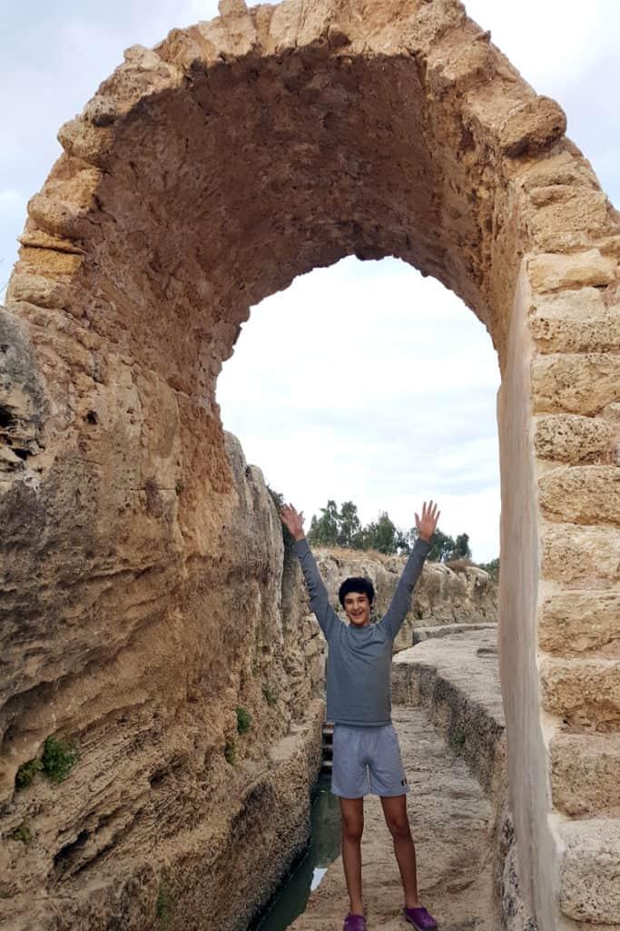 The Nahal Taninim visitors guide. Walk along the ancient aqueduct of Nahal Taninim, Israel.