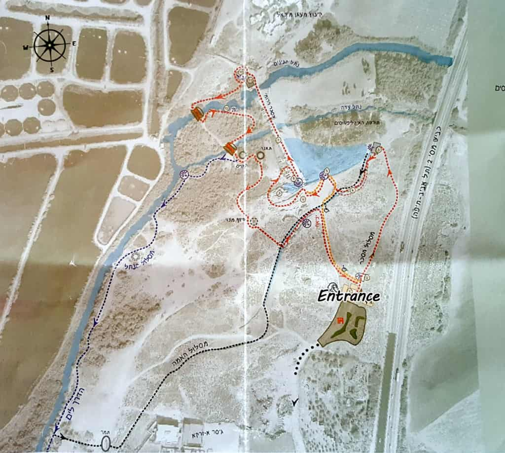 The Nahal Taninim visitors guide: trail map