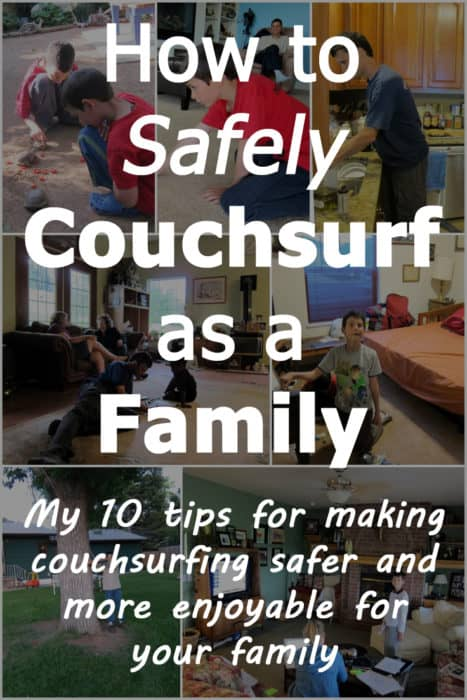 How to safely couchsurf as a family: My 10 tips for making couchsurfing safer and fun for your family