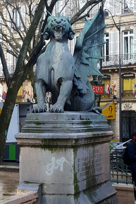 Gargoyles at Place St. Michel - Paris Trip Report