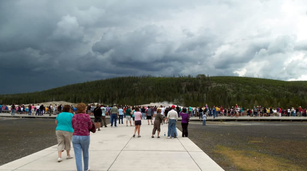 Old Faithful viewing platform
