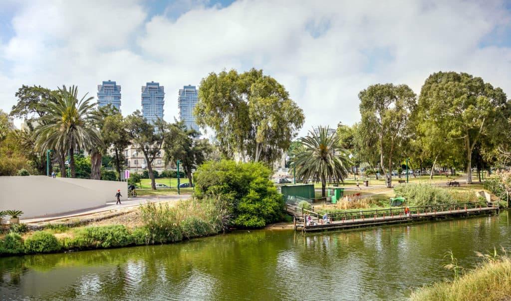 Yarkon Park in Tel Aviv, Israel
